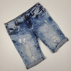 Suko Jeans Acid Wash Denim Shorts Size 4